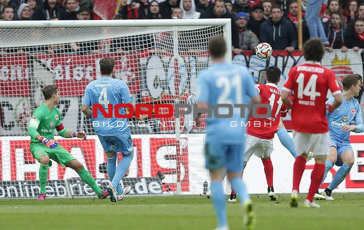 21.02.2015, Coface-Arena, Mainz, 1. Liga  2014/2015, 22. Spieltag R&uuml;ckrunde, 1. FSV Mainz 05 vs. Eintracht Frankfurt<br /> Yunus Malli (FSV Mainz 05) erzielt das 3:1<br /> Foto &copy; nordphoto /  Bratic