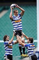 Carel du Preez of DHL Western Province takes a lineout ball during the World Club 7s at Twickenham on Saturday 17th August 2013 (Photo by Rob Munro)