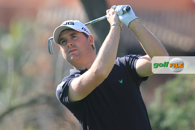 Matthew Baldwin (ENG) on the 3rd tee on Day 3 of the 2012 Open de Andalucia Costa del Sol at Aloha Golf Club, Marbella, Spain....(Photo Jenny Matthews/www.golffile.ie)