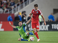 Santa Clara, California - Saturday, August 2nd, 2014: San Jose Earthquakes defeated Seattle Sounders FC, 1-0 during Major League Soccer match at Levi's Stadium.