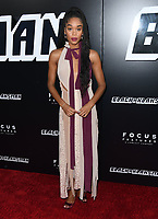 08 August 2018 - Beverly Hills, California - Laura Harrier. Premiere Of Focus Features' &quot;BlacKkKlansman&quot; held at Samuel Goldwyn Theater. <br /> CAP/ADM/BT<br /> &copy;BT/ADM/Capital Pictures