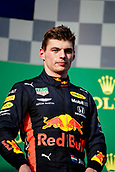 17th March 2019, Melbourne Grand Prix Circuit, Melbourne, Australia; Melbourne Formula One Grand Prix, race day; Max Verstappen is third after the race