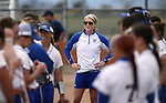 WNC Assistant Coach Bethany Henry-Herman works a game against Snow at Edmonds Sports Complex in Carson City, Nev., on Friday, March 20, 2015. <br /> Photo by Cathleen Allison