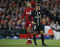Sport Bilder des Tages PSG forward Neymar Neymar reacts during the UEFA Champions League - Group C match at the Anfield Stadium, Liverpool. Picture date 18th September 2018. Picture credit should read: Andrew Yates/Sportimage PUBLICATIONxNOTxINxUK  <br /> Uefa Champions League 2018/2019 <br /> Foto Imago / Insidefoto <br /> ITALY ONLY