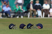 Four Essex helmets in the outfield during Surrey CCC vs Essex CCC, Specsavers County Championship Division 1 Cricket at Guildford CC, The Sports Ground on 11th June 2017
