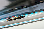 Heikki Kovalainen of Finland and Lotus F1 Team drives during the Abu Dhabi Formula One Grand Prix 2013 at the Yas Marina Circuit on November 3, 2013 in Abu Dhabi, United Arab Emirates. Photo by Victor Fraile / The Power of Sport Images