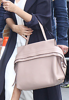 NEW YORK, NY - JUNE 15: Close up of Jessica Alba's purse seen at The View in New York City on June 15, 2017. Credit: RW/MediaPunch