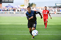SAN JOSE, CA - FEBRUARY 29: Chris Wondolowski #8 of the San Jose Earthquakes during a game between Toronto FC and San Jose Earthquakes at Earthquakes Stadium on February 29, 2020 in San Jose, California.