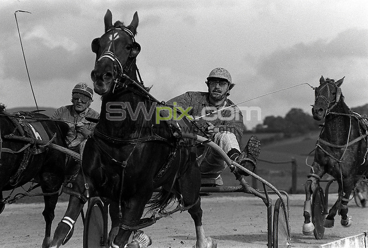 Pix:Michael Steele/SWpix...Harnes Racing, Kendal, 1985...COPYRIGHT PICTURE>>SIMON WILKINSON..Harness Racing, Kendal.