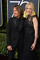 Nicole Kidman &amp; Keith Urban at the 75th Annual Golden Globe Awards at the Beverly Hilton Hotel, Beverly Hills, USA 07 Jan. 2018<br /> Picture: Paul Smith/Featureflash/SilverHub 0208 004 5359 sales@silverhubmedia.com