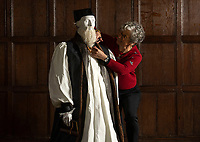 BNPS.co.uk (01202 558833)<br /> Pic: PhilYeomans/BNPS<br /> <br /> Pragmatic gift - Archbishop Thomas Cranmer was forced by a covetous Henry VIIIth to hand over the enormous property in the 1540's.<br /> <br /> Wasted Paper...This might be the only chance history fans get to see the incredible paper creations that tell the story of one of Britain's most historic homes, as the National Trust becomes the latest victim of coronavirus.<br /> <br /> 'Fashioned from Paper' had only just opened at Knole House near Sevenoaks before the National Trust annouced the closure of the historic Kent property from today.<br /> <br /> Now Artist Denise Watson's intricate creations may never be seen as know one knows when the historic home will reopen.<br /> <br /> Denise had taken inspiration from the valuable collection of portrait paintings bought up by the aristocratic Sackville-West family over the stately homes 600 year history.<br /> <br /> The enormous building, one of the largest houses in Britain, was once owned by Archbishop Thomas Cranmer before Henry VIII th covetous gaze forced him to hand it over to the acquisitive monarch in the mid 16th century.<br /> <br /> Elizabeth I later gifted Knole to Thomas Sackville, 1st Earl of Dorset, and the Sackville-West's still inhabit part of the property to this day.