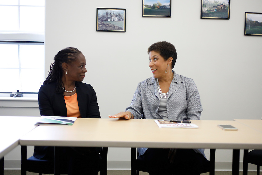 Chirlane McCray visits Longview Farm.