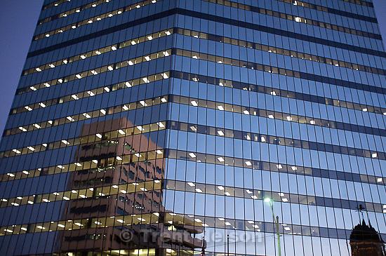 Trent Nelson  |  The Salt Lake Tribune.building at dusk, in Salt Lake City, Utah on Wednesday, October 26, 2011.