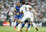 Real Madrid's Raphael Varane (b) and Juventus' Arturo Vidal during Champions League 2014/2015 Semi-finals 2nd leg match.May 13,2015. (ALTERPHOTOS/Acero)