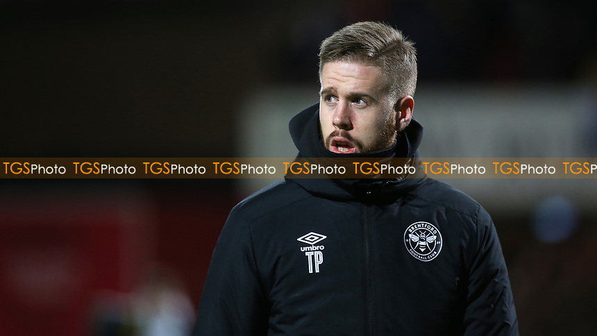 Pontus Jansson of Brentford ahead of kick-off during Brentford vs Leeds United, Sky Bet EFL Championship Football at Griffin Park on 11th February 2020