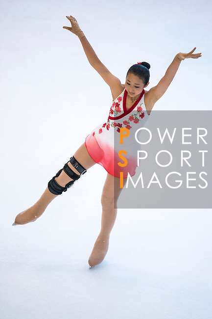 Po Tan Carlissa Yuen competes during the Asian Junior Figure Skating Challenge 2015 on October 07, 2015 at the Festival Walk Mall in Hong Kong, China. Photo by Aitor Alcalde/ Power Sport Images