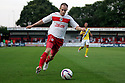David Gray of Stevenage. Stevenage v AFC Wimbledon - Capital One Cup First Round - Lamex Stadium, Stevenage . - 14th August, 2012. © Kevin Coleman 2012