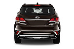 Straight rear view of 2017 Hyundai Santa-Fe Limited-Ultimate-FWD 5 Door SUV Rear View  stock images