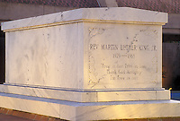 AJ3920, Martin Luther King, MLK, Atlanta, tomb, crypt, Martin Luther King Jr. National Historic Site, Georgia, Martin Luther King Jr.'s Crypt at the Martin Luther King Jr. Nat'l Historic Site in Atlanta in the state of Georgia.