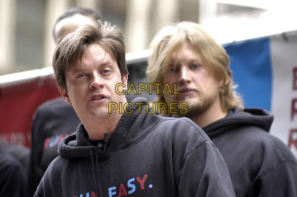 "JIM BREUER & NICK MANGOLD.Reebok ""Run Easy"" movement promotion in Times Square, New York City, New York, USA..May 2nd, 2007.headshot portrait beard facial hair .CAP/ADM/BL.©Bill Lyons/AdMedia/Capital Pictures *** Local Caption ***"