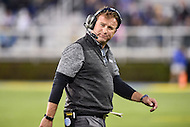 Newark, DE - OCT 29, 2016: Towson Tigers head coach Rob Ambrose is not happy following the 20-6 loss to Delaware Fightin Blue Hens during game at Delaware Stadium Tubby Raymond Field in Newark, DE. (Photo by Phil Peters/Media Images International)