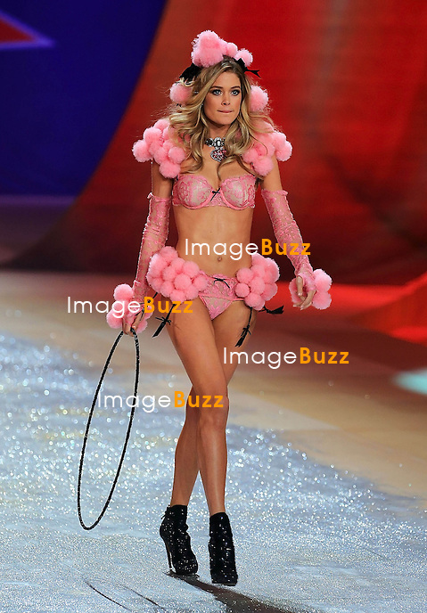 NEW YORK, NY - NOVEMBER 07: Victoria's Secret Angel - DOUTZEN KROES walks the runway during the 2012 Victoria's Secret Fashion Show at the Lexington Avenue Armory in New York City.