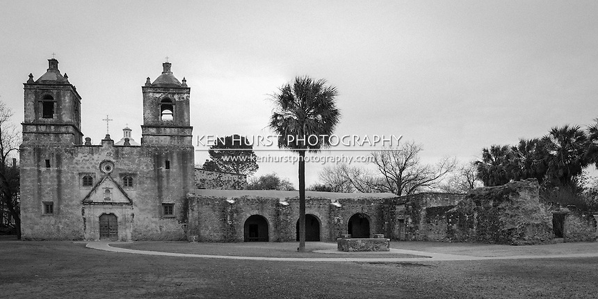 Mission Concepcion, or Mission Nuestra Senora de la Purisima Concepcion de Acuna, is a church built by Franciscans in 1755 in San Antonio, Texas and is part of the San Antonio Mission National Historical Park.<br />