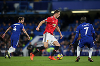 Nemanja Matic of Manchester United in action during Chelsea vs Manchester United, Premier League Football at Stamford Bridge on 5th November 2017