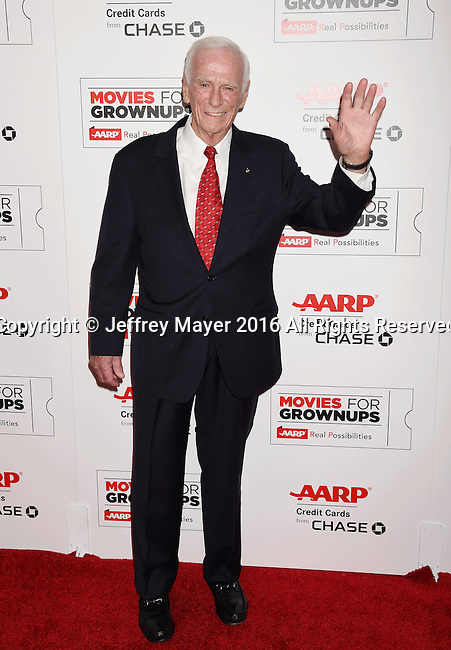 BEVERLY HILLS, CA - FEBRUARY 08: Astronaut Eugene Cernan attends AARP's Movie For GrownUps Awards at the Regent Beverly Wilshire Four Seasons Hotel on February 8, 2016 in Beverly Hills, California.