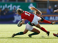 9th February 2020; Energia Park, Dublin, Leinster, Ireland; International Womens Rugby, Six Nations, Ireland versus Wales; Hannah Jones of Wales is tackled by Kathryn Dane of Ireland
