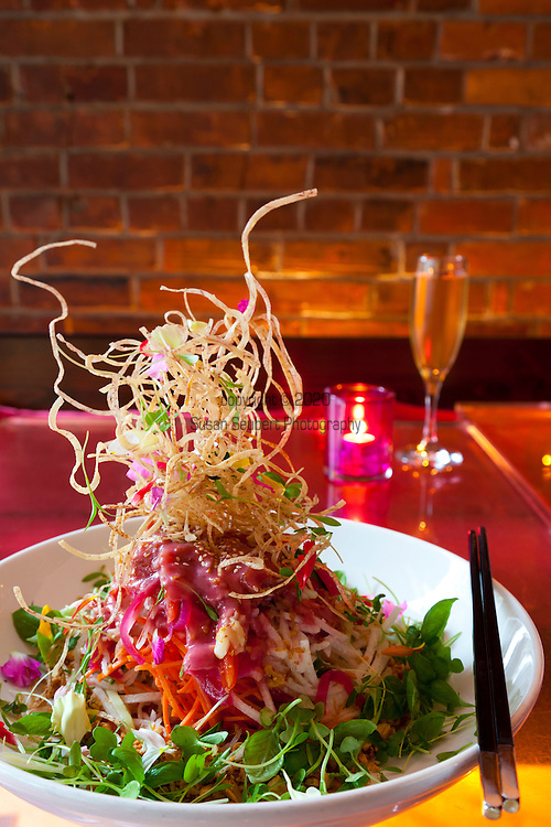 """Lee Restaurant located on King Street West is the latest restaurant from star chef Sursur Lee. Pictured here is the dish, """"Singaporean style slaw"""" which features over 18 ingredients."""