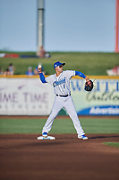Jack Lopez (1) of the Omaha Storm Chasers during the game against the Round Rock Express at Werner Park on May 27, 2018 in Papillion , Nebraska. Round Rock defeated Omaha 8-3. (Stephen Smith/Four Seam Images)