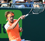 March 28 2017: Alexander Zverev (GER) defeats Stanislas Wawrinka (SUI) by 6-4, 2-6, 1-6, at the Miami Open being played at Crandon Park Tennis Center in Miami, Key Biscayne, Florida. ©Karla Kinne/tennisclix/EQ