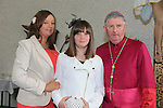 Hazel Ashmore.after being confirmed by Bishop Michael Smith in Julianstown Church with Kim Ashworth.Picture:  www.newsfile.ie ..