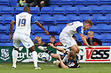 David Gray of Stevenage tackles Max Power of Tranmere<br />  - Tranmere Rovers v Stevenage - Sky Bet League One - Prenton Park, Birkenhead - 7th September 2013. <br /> © Kevin Coleman 2013