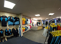 General view of Wycombe Wanderers new club shop prior to the Friendly match between Wycombe Wanderers and Leeds United at Adams Park, High Wycombe, England on 13 November 2015. Photo by Liam McAvoy.