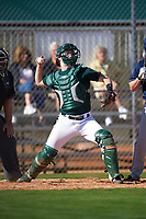 Dartmouth Big Green catcher Kyle Holbrook (9) during a game against the Villanova Wildcats on February 27, 2016 at South Charlotte Regional Park in Punta Gorda, Florida.  Villanova defeated Dartmouth 14-1.  (Mike Janes/Four Seam Images)