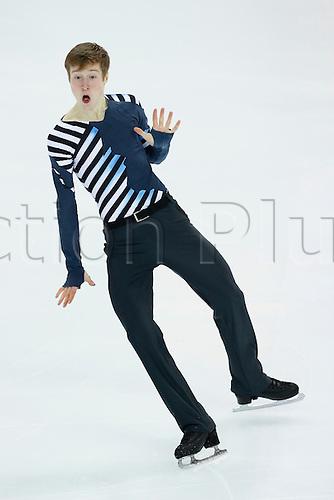 08.12.2016. Palais Omnisports, Marseille, France. ISU Junior Figure Skating Grand Prix Final. Alexander Samarin (RUS) competes in the Men's Short Program.