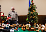 BETHLEHEM, CT. 07 December 2018-120718 - Terry Tougas of New Milford and owner of Mine Hill Woodworks stands at his display table of wood products he makes during the annual Christmastown Festival on the Town Green in Bethlehem on Friday. Bill Shettle Republican-American
