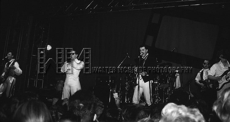 Frankie Goes to Hollywood pictured performing at The Ritz in New York City in November, 1984.