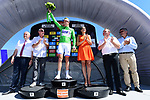 Arnaud Demare (FRA) FDJ wins the points green jersey on the podium at the end of the final Stage 8 of the Criterium du Dauphine 2017, running 115km from Albertville to Plateau de Solaison, France. 11th June 2017. <br /> Picture: ASO/A.Broadway | Cyclefile<br /> <br /> <br /> All photos usage must carry mandatory copyright credit (&copy; Cyclefile | ASO/A.Broadway)