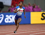 Bianca WILLIAMS (GBR) in the womens 200m heats. IAAF world athletics championships. London Olympic stadium. Queen Elizabeth Olympic park. Stratford. London. UK. 08/08/2017. ~ MANDATORY CREDIT Garry Bowden/SIPPA - NO UNAUTHORISED USE - +44 7837 394578