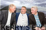 Patrick O'Sullivan chats with Micheal O'Muircheartaigh and Mick O'Dwyer at his celebration of his retirement as County Board Chairman and his 50th birthday in the Sea Lodge Hotel Waterville on Friday night