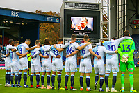 A minutes silence is held before the game to remember Leicester City owner Vichai Srivaddhanaprabha<br /> <br /> Photographer Alex Dodd/CameraSport<br /> <br /> The EFL Sky Bet Championship - Blackburn Rovers v Queens Park Rangers - Saturday 3rd November 2018 - Ewood Park - Blackburn<br /> <br /> World Copyright &copy; 2018 CameraSport. All rights reserved. 43 Linden Ave. Countesthorpe. Leicester. England. LE8 5PG - Tel: +44 (0) 116 277 4147 - admin@camerasport.com - www.camerasport.com