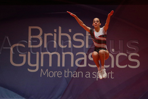 31.07.2015.  Liverpool, England. British Gymnastics Championship Series Day 2. Jasmine Potter of the Bulmershe Gymnastics Club competes in the Aerobics British Championships 2015.