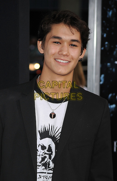 "Booboo Stewart.arriving at the Los Angeles Premiere of ""Final Destination 5"" at Grauman's Chinese Theatre in Hollywood, California, USA, August 10th, 2011..portrait headshot smiling  black jacket .CAP/ROT/TM.©TM/Roth Stock/Capital Pictures"