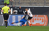 Zweikampf Marius Wolf (Eintracht Frankfurt) gegen Nico Schulz (TSG 1899 Hoffenheim) - 08.04.2018: Eintracht Frankfurt vs. TSG 1899 Hoffenheim, Commerzbank Arena