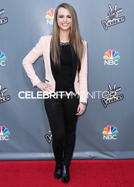 "UNIVERSAL CITY, CA, USA - APRIL 15: Bria Kelly at NBC's ""The Voice"" Season 6 Top 12 Red Carpet Event held at Universal CityWalk on April 15, 2014 in Universal City, California, United States. (Photo by Xavier Collin/Celebrity Monitor)"
