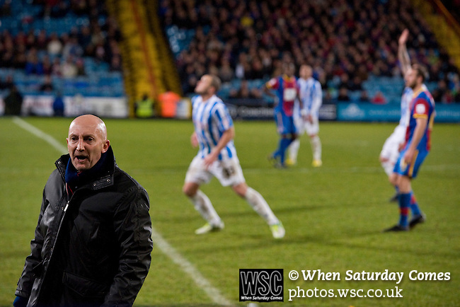Crystal Palace 1 Huddersfield Town 1, 22/12/2012. Selhurst Park, Championship. Promotion chasing Crystal Palace aim to halt a poor run of form against lowly Huddersfield. Ian Holloway in the technical area. Photo by Simon Gill.