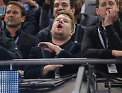 June 3rd 2017, National Stadium of Wales , Wales; UEFA Champions League Final, Juventus FC versus Real Madrid; James Corden in the stands enjoys the prematch entertainment
